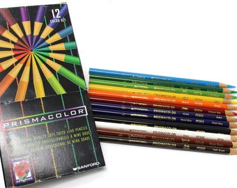 USA Made Prismacolor 12 Color Art Pencil Set No. 952