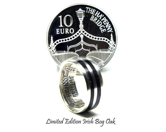 Silver Coin Ring Limited Edition Irish Coin Ring With