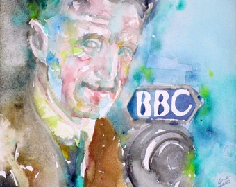 GEORGE ORWELL - original watercolor portrait - one of a kind!