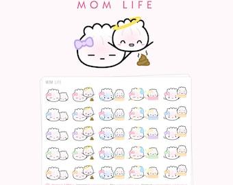 "Mom Life Stickers - ""Mom Life"" [Mom Life Stickers, Infant Stickers, Baby Stickers, Poop Sticker, Family Stickers] - S025"