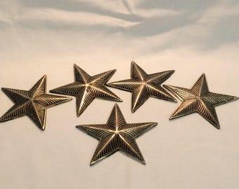 Pack of 5 Aluminum Stars Decorations Craft Embellishments Wall Art