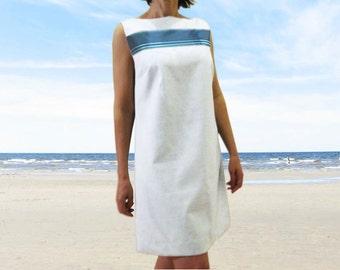 LINEN trapeze dress seaside