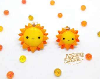 Suns kawaii handmade polymer clay pendants ~ Summer