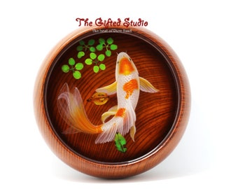 Resin fish artwrok,Resin 3D Goldfish paintings handmade creative home furnishing Creative Gifts Art Decoration by acrylic paints,xmas gifts