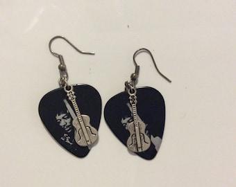 Jimi Hendrix Guitar Pick Earrings