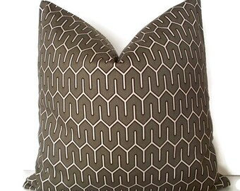 SALE Robert Allen Maze Work Brindle Geometric Decorative Pillow Cover