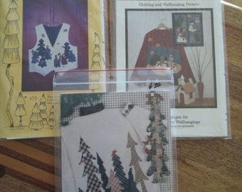 3 Christmas Project Patterns. Fabricraft, Hedge Hog,Keeping in Stitches  Embellishments. DIY Craft.