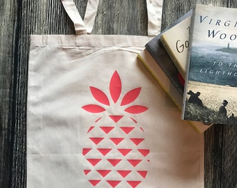 Pineapple tote bag - pineapple book bag, ivf medicine bag, ivf tote bag, ivf gift, ivf gift for friend, gift for friend, iui, ttc gift