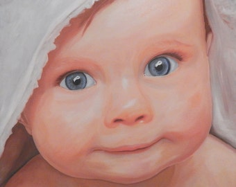 Painting a portrait-real hand-painted oil painting from the photo