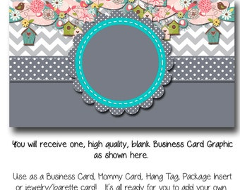Floral business card template georgia blooms made to match diy blank business card template teal and chevron birdhouse made to match etsy sets fbccfo Choice Image