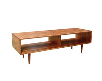 Mid Century Low Profile Media Stand / Coffee Table - MADE TO ORDER 90 days