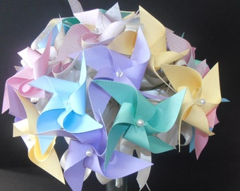 Pinwheel Wedding Bouquet