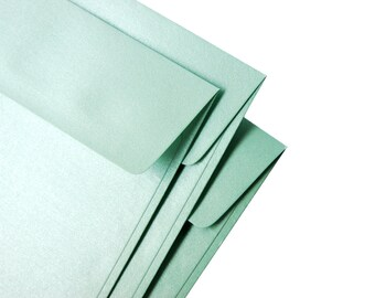 """A7 (5x7) Metallic Mint Envelopes - Perfect for 5""""x7"""" cards & invitations (pack of 10 or 20) - The actual size is 5 1/4""""x7 1/4"""""""