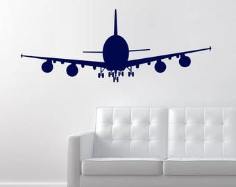 Airplane Wall Decal, Boy's Room Decor, Airplane Nursery Decor , Airplane Decor, Nursery Decor , Vinyl Wall Decal