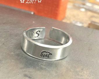 Animal Ring Bear Gift, Nature Rings for Women Gift, Sterling Silver Ring Animal, Polar Bear Ring