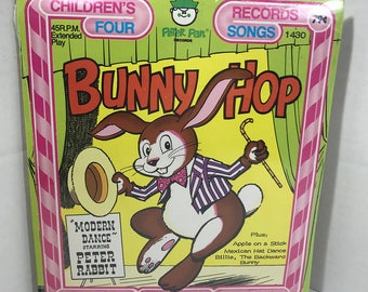 "Bunny Hop vintage record SEALED Peter Pan Records 7"" vinyl"
