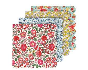 Floral Party Napkins, Meri Meri Liberty Paper Napkins, Small Napkins, Dessert Napkins, Floral Wedding, Tea Party Decor, Birthday Party