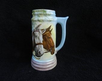 Hand painted Beer Stein: Hand Painted Porcalein