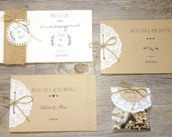 Country collection {Pack} all wedding stationery with
