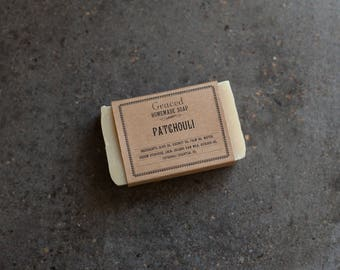 Handcrafted Natural Patchouli Bar Soap