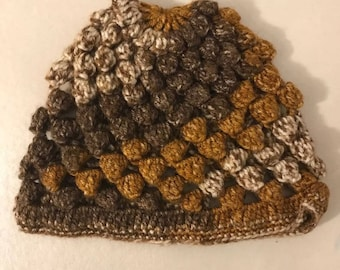 Hand Made Brown Colored Beanie