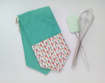 Double oven glove, kitchen glove, long oven gloves, pot holders and oven mitts, kitchen pot set, gift to bride.