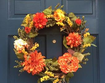 Vivid Fall Colors Wreath