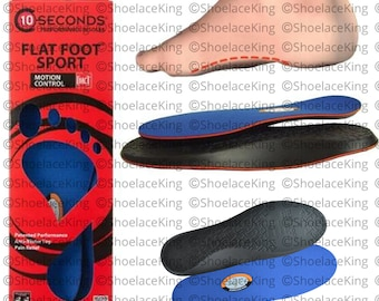 Flat Foot Sport Insoles - Specifically designed for Flat Feet - Extreme Comfort & Provides Total Relief - All Sizes!