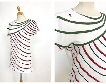 ROBERTA di CAMERINO authentic vintage 1970s 1980s Trompe l'oeil printed T-shirt New/Never used - size S