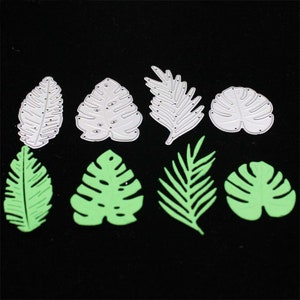 Tropical Monstera Leaves Cutting Dies Stencils for DIY Scrapbooking Stamp/photo album Decorative Embossing DIY Cards