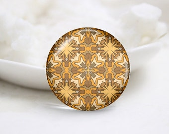 Round Glass Photo Cabochons Photo Glass Cabs-Tiling (P3236)