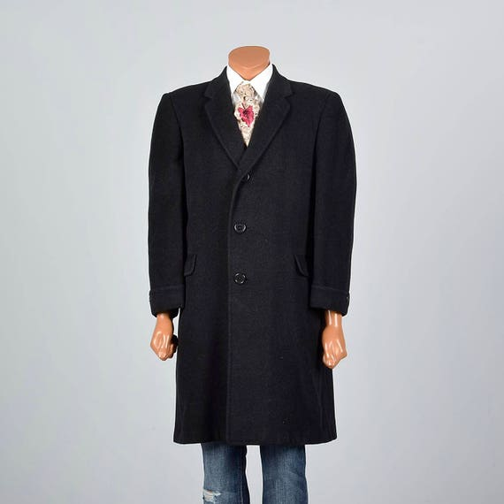 New Old Stock Men's Charcoal Wool Coat Overcoat by Nautica 350.00 Size Large 42 NOS cnbJcHmH3