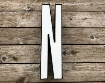 N - Reclaimed Metal letter - 20 inch - XL - SALE