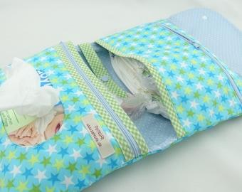 Diaper bag star Blue Green