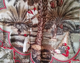 Worth Provincial Arabian Themed Silk Scarf