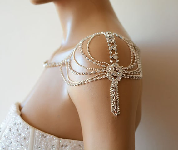 Wedding Rhinestone Jewelry Wedding Dress Shoulder Wedding