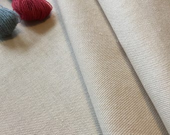 100% Linen Twill For Crewel Work, Half A Meter, Size 157cm x 50cm