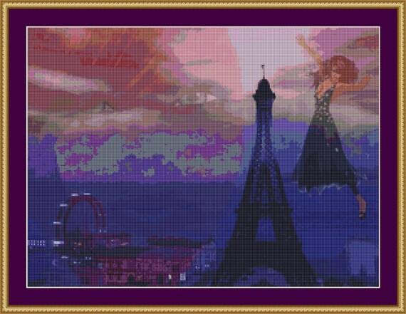 Paris Dreams Cross Stitch Pattern /Digital PDF Files /Instant downloadable