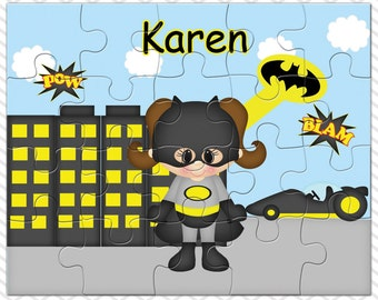 Batgirl Personalized Puzzle, Personalized Batgirl Puzzle, Personalized Kids Puzzle