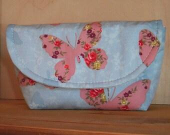 Handmade Purse Clutch / Notions Case Ideal For Knitting & Crochet (Butterfly)