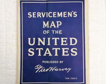 Servicemen's Map of the U.S.