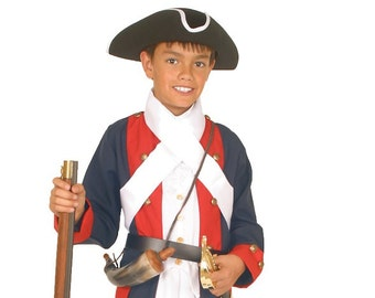 Boys Revolutionary War Costume - American Revolution Soldier - Period Military Clothing