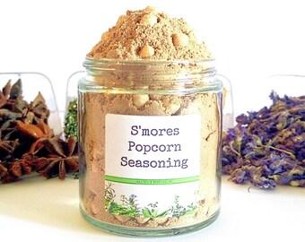 S'mores/Popcorn Seasoning/Gourmet Popcorn/Popcorn Bowl/Popcorn Items/Popcorn/Spice Rack/Food Gift/Foodie Gift/Party Favors/Wedding Favors