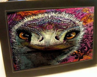 greeting card zentangle ostrich blank card