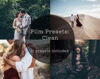 Film Presets: Clean & Matte Lightroom Presets