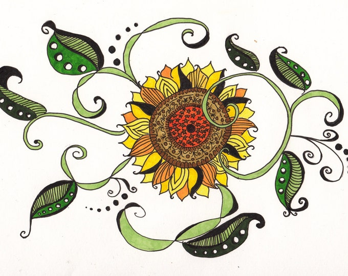 The Zen Doodle Sunflower Cards