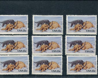 Dog & Cat Stamps/10 Postage Stamps Unused/Dog And Cat