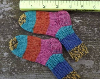 Hand knit baby socks, baby booties