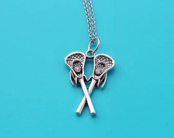 LACROSSE STICKS Stainless Steel Necklace,lacrosse,LAX,lacrosse player,lacrosse coach,lacrosse mom,lacrosse necklace,lacrosse gift,1560