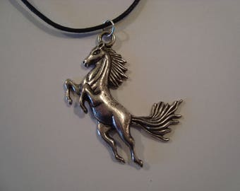 Silver Horse pendant necklace